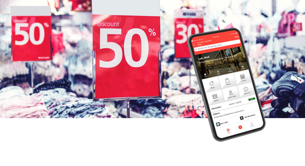 Mobile screen showing the image of Goshop app