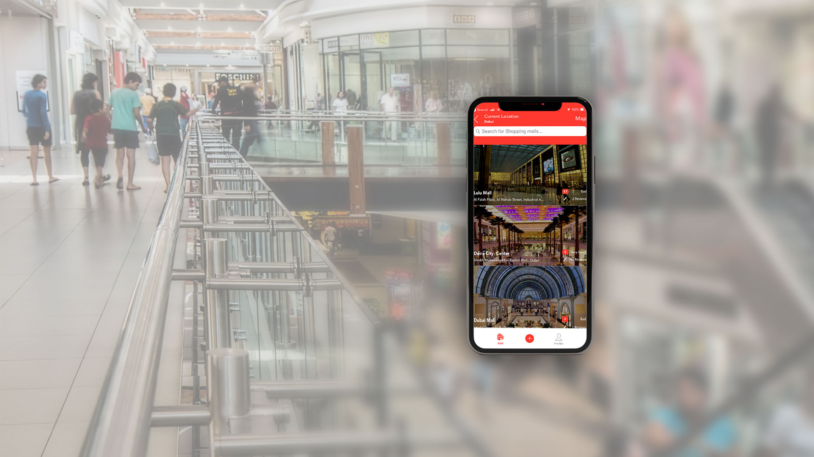 A mobile screen showing the image of GoShop app