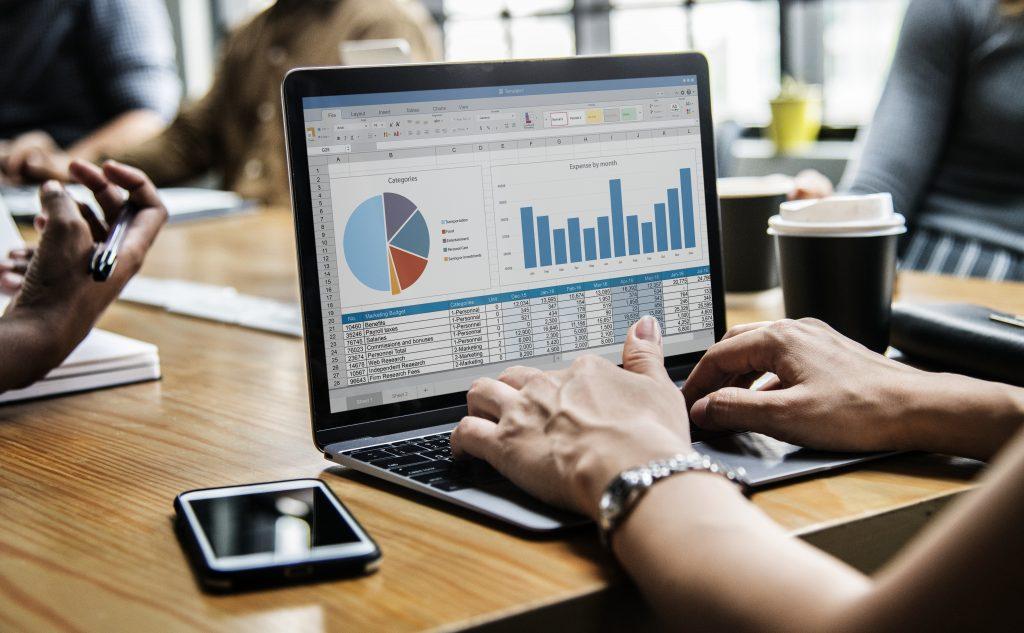 Lap showing data visualizations