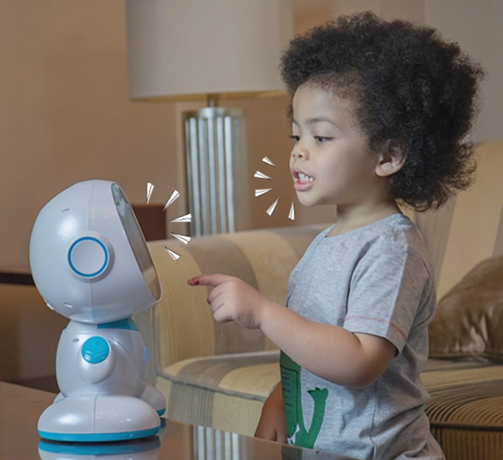 Misa robot interacting with a kid