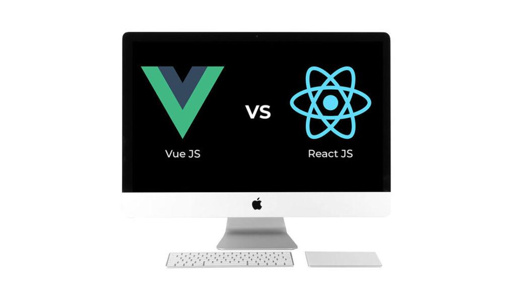 desktop showing vue vs react